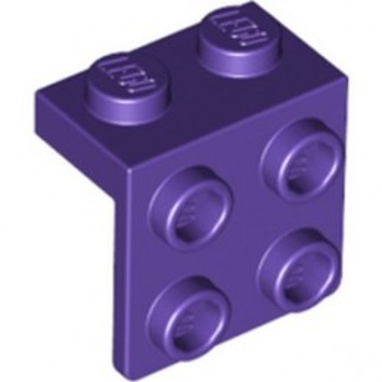 LEGO 6334093 ANGLE PLATE 1X2 / 2X2 - MEDIUM LILAC