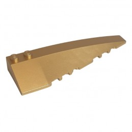 LEGO 6348196 RIGHT SHELL 3x10 - GOLD INK