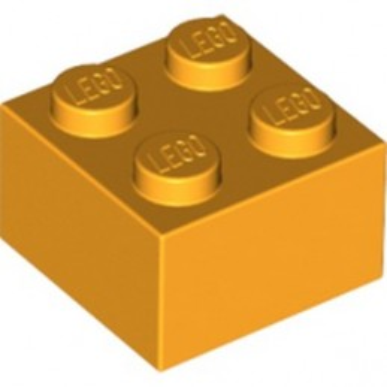 LEGO 6295078 BRICK 2X2 - FLAME YELLOWISH ORANGE