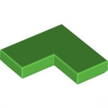LEGO 6353073 FLAT TILE CORNER 1X2X2 - BRIGHT GREEN