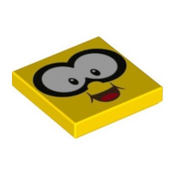 LEGO 6353852 PLATE 2X2, PRINTED FACE SUPER MARIO - YELLOW