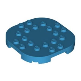LEGO 6301637 PLATE, 6X6X2/3 CIRCLE W/ REDUCED KNOBS - DARK AZUR