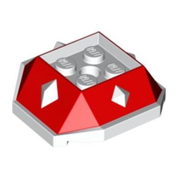 LEGO 6302720 DESIGN BRICK 4X4 W/CUT ANGLE - RED