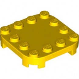 LEGO 6314197 PLATE 4X4X2/3 CIRCLE W/ REDUCED KNOBS - YELLOW