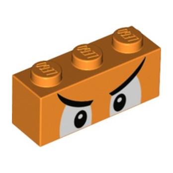 LEGO 6353862 BRICK 1X3, PRINTED - ORANGE