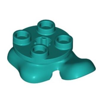 LEGO 6357991 FEET 2X2 - BRIGHT BLUEGREEN