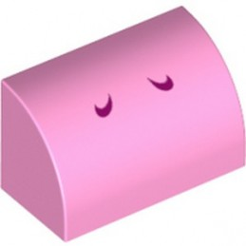 LEGO 6353865 1/2 DOME 1X2 IMPRIME - ROSE CLAIR