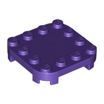 LEGO 6334094 PLATE 4X4X2/3 CIRCLE W/ REDUCED KNOBS - MEDIUM LILAC