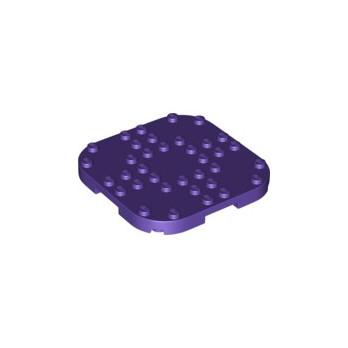 LEGO 6326551 PLATE, 8X8X2/3 CIRCLE W/ REDUCED KNOBS - MEDIUM LILAC