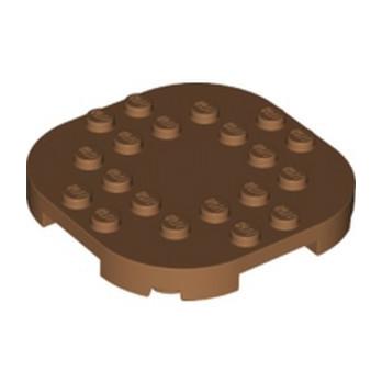 LEGO 6301636 PLATE, 6X6X2/3 CIRCLE W/ REDUCED KNOBS - MEDIUM NOUGAT