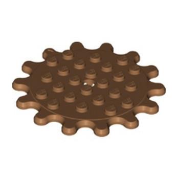 LEGO 6338455 GEAR WHEEL 6X6, Z14 - MEDIUM NOUGAT