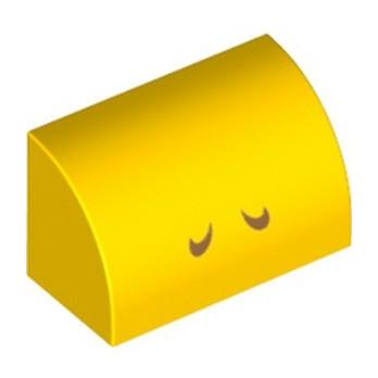 LEGO 6331032 1/2 DOME 1X2 IMPRIME - JAUNE