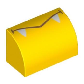 LEGO 6353859 1/2 DOME 1X2 IMPRIME - JAUNE
