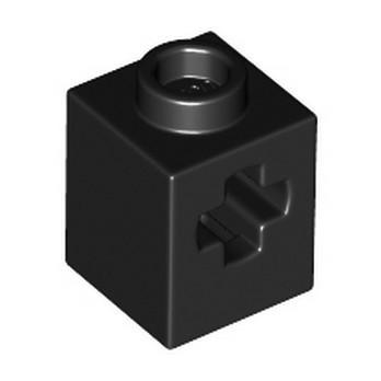 LEGO 6344819 TECHNIC BRIQUE 1X2 WITH CROSS HOLE - BLACK