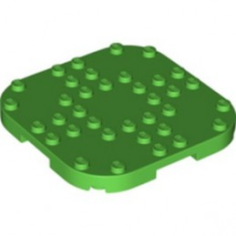 LEGO 6301641 PLATE, 8X8X2/3 CIRCLE W/ REDUCED KNOBS - BRIGHT GREEN