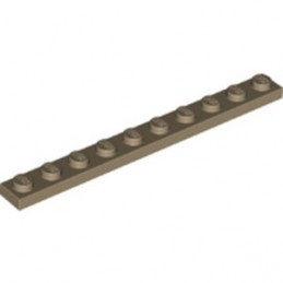 LEGO 6232137 PLATE 1X10 - SAND YELLOW