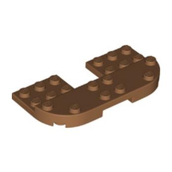 LEGO 6353587 PLATE 8X4X2/3, 1/2 CIRCLE, CUT OUT - MEDIUM NOUGAT