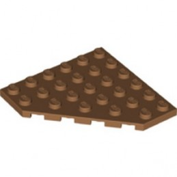 LEGO 6346548 CORNER PLATE 6X6X45° - MEDIUM NOUGAT