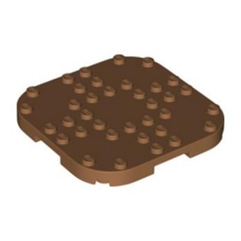 LEGO 6301649 PLATE, 8X8X2/3 CIRCLE W/ REDUCED KNOBS - MEDIUM NOUGAT