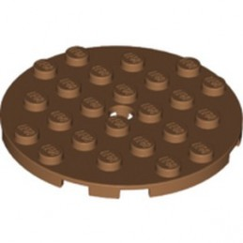 LEGO 6345302 PLATE ROUND 6X6 - MEDIUM NOUGAT