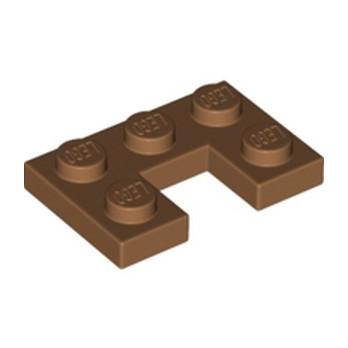 LEGO 6336665 PLATE 2X3, W/ CUT OUT - MEDIUM NOUGAT