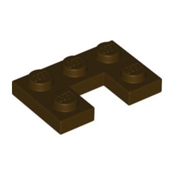 LEGO 6336664 PLATE 2X3, W/ CUT OUT - DARK BROWN