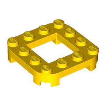 LEGO 6364059 PLATE 4X4X2/3, CIRCLE, 2X2 HOLE - YELLOW