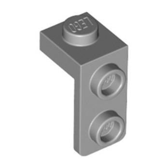 LEGO 6362975 PLATE 1X1, W/ 1.5 PLATE 1X2, DOWNWARDS - MEDIUM STONE GREY