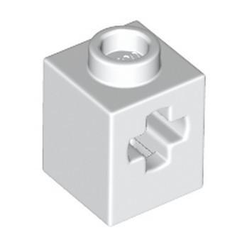 LEGO 6345886 TECHNIC BRICK 1X2 WITH CROSS HOLE - WHITE
