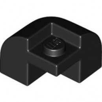 LEGO 6359039 BRICK W/ BOW 2X2X1 1/3 - BLACK