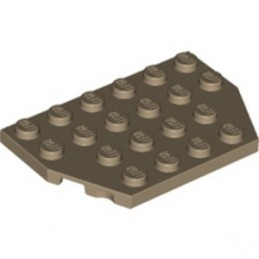 LEGO 6311433 PLATE 4X6 26 DEGREES - SAND YELLOW