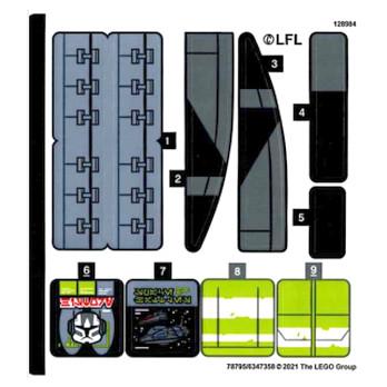 Stickers Lego Star Wars 75314