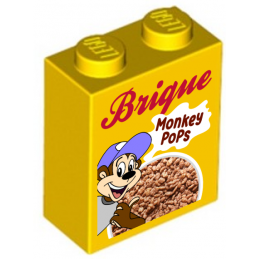 Cereal Boxes printed on Lego® Brick 1X2X2