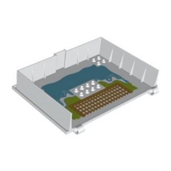 LEGO 6354184 DESIGN PLATE, BOOK, W/4.85 HOLE PRINTED - WHITE