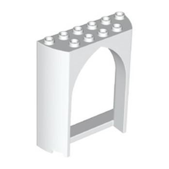 LEGO 6358033 WALL 2X6X6, 1/2 CIRCLE, W/ CUT OUT - WHITE