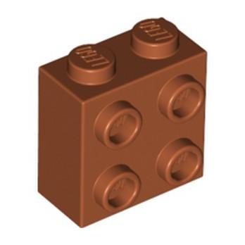 LEGO 6361813 BRIQUE 1X2X1 2/3 W/4 KNOBS  - DARK ORANGE