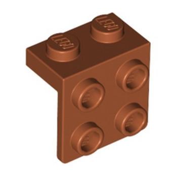 LEGO 6361744 ANGLE PLATE 1X2 / 2X2 - DARK ORANGE