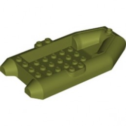 LEGO 6368309 RUBBER BOAT 6X12X2 - OLIVE GREEN