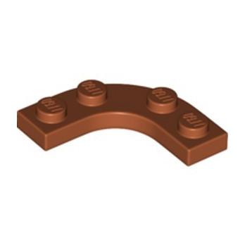 LEGO 6339915 PLATE 3X3, 1/4 CIRCLE W/ CUT OUT - DARK ORANGE
