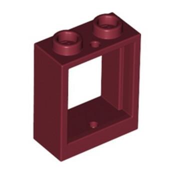 LEGO 6369263 FRAME 1X2X2 - NEW DARK RED