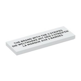 LEGO 6333990 FLAT TILE 2X6 PRINTED - WHITE