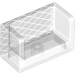 LEGO 6295461 WALL DOUBLE CORNER 1X2X1 PRINTED - TRANSPARENT