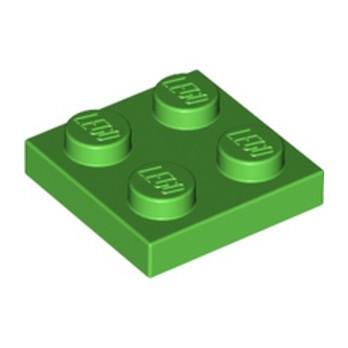 LEGO 6357612 PLATE 2X2 - BRIGHT GREEN