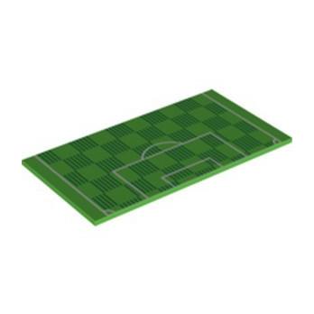 LEGO 6289448 FLAT TILE 6X16 PRINTED - BRIGHT GREEN