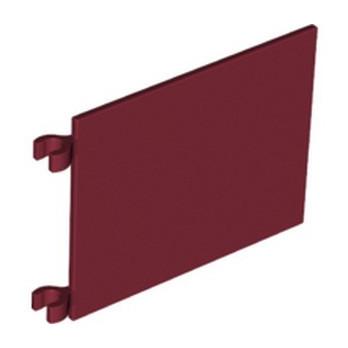 LEGO 6357814 FLAG 6X4 W. 2 HOLDERS - NEW DARK RED
