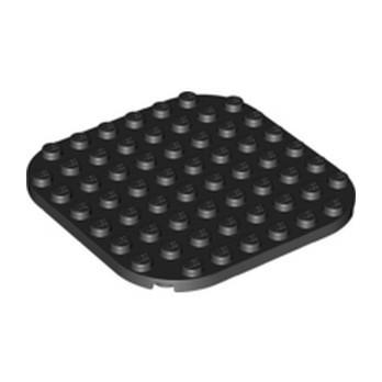 LEGO 6317540 PLATE 8X8, CIRCLE - BLACK