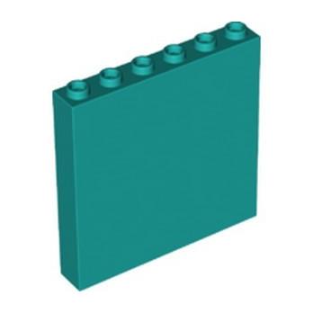 LEGO 6346491 WALL ELEMENT 1x6x5 - BRIGHT BLUEGREEN