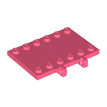 LEGO 6317511 PLATE 4X6 W/V STUB - CORAL
