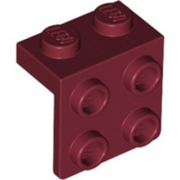 LEGO 6267486 ANGLE PLATE 1X2  2X2 - NEW DARK RED