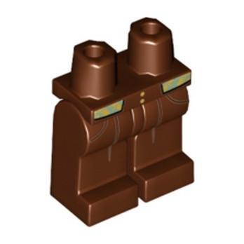 LEGO 6197021 PRINTED LEGS - REDDISH BROWN
